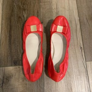 Cole Haan Shoes - Cole Haan | Grand. Os Red Flats With Tali Bow